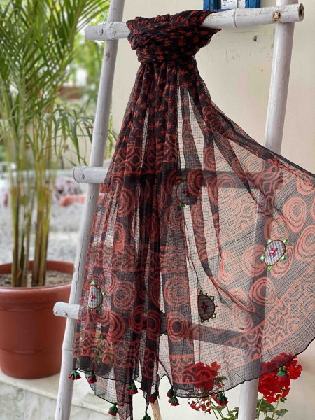 KOTA COTTON EMBROIDERED DUPATTA